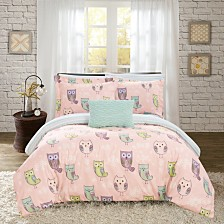 Chic Home Owl Forest 8 Piece Full Bed In a Bag Comforter Set