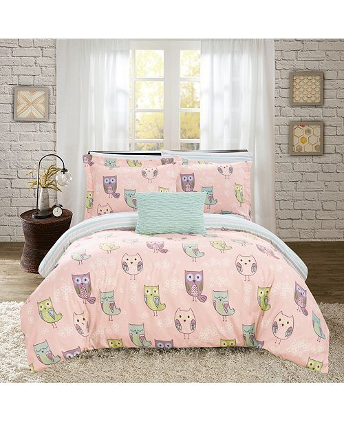 Owl Forest 8 Pc Bed In A Bag Comforter Sets