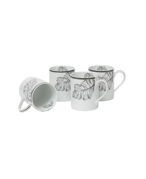 Darbie Angell My Journey Gray Set of 4 Mugs