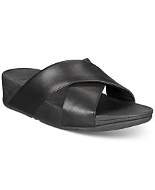 FitFlop Lulu Cross Slide Sandals