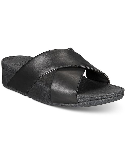 96e8fca36 FitFlop Lulu Cross Slide Sandals   Reviews - Sandals   Flip Flops ...