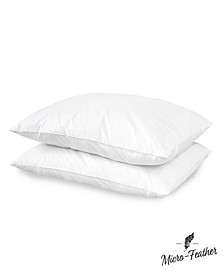2 Pack Micro Feather Plush Pillows