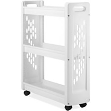 Whitmor 3-Tier Slim Laundry Cart