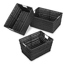 3-Pc. Rattique Storage Baskets
