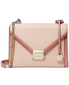 MICHAEL Michael Kors Whitney Bicolor Leather Shoulder Bag
