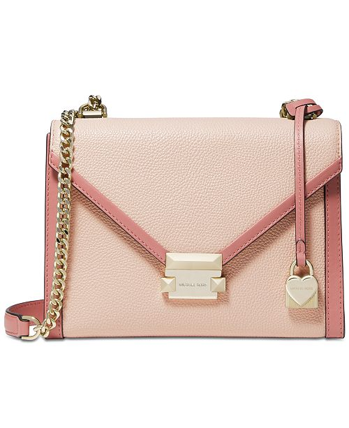 53cd16697a700b Michael Kors Whitney Bicolor Leather Shoulder Bag & Reviews ...