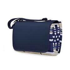 Oniva™ by Picnic Time Blanket Tote Blue Stripe & Navy Outdoor Picnic Blanket