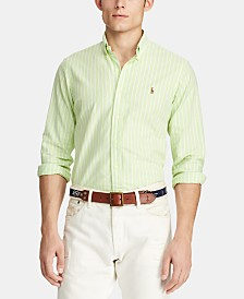 Polo Ralph Lauren Men's Big & Tall Classic Fit Patterned Oxford Shirt