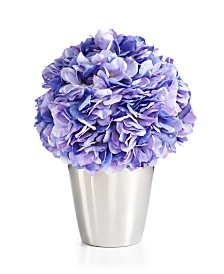 Martha Stewart Collection Spring Blue Hydrangea Artificial Potted Floral Arrangement, Created for Macy's