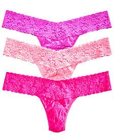 Hanky Panky Women's 3-Pk. Low-Rise Lace Thong 49HRT3PK