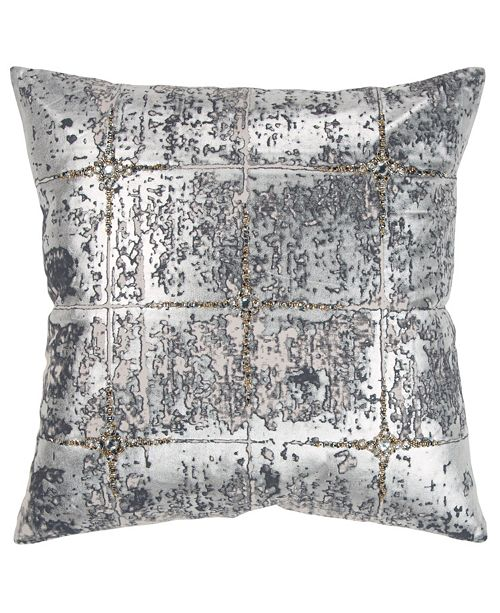 """Rizzy Home 20"""" x 20"""" Abstract Design Pillow Cover"""