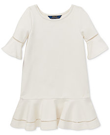 Polo Ralph Lauren Little Girls Ponté-Knit Inset-Lace Dress