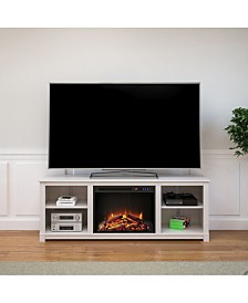 Ameriwood Home Rossi TV Console with Fireplace