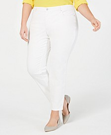Plus Size Mid-Rise Skinny Jeans, Created for Macy's