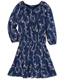 Polo Ralph Lauren Big Girls Floral-Print Gauze Boho Dress
