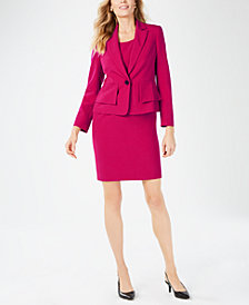 Kasper One-Button Blazer & Sheath Dress