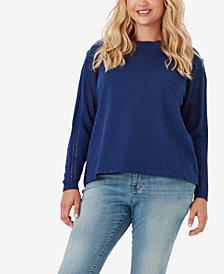 Jessica Simpson Juniors' Susie Plus Size Sweater-Sleeve Top
