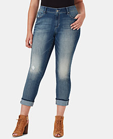 Jessica Simpson Juniors' Arrow Plus Size Straight-Leg Jeans