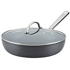 "Professional Hard Anodized Nonstick Covered Deep 12"" Skillet"