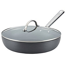"Anolon Professional Hard Anodized Nonstick Covered Deep 12"" Skillet"