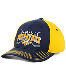 Outerstuff Boys' Nashville Predators Faceoff Flex Stretch Fitted Cap