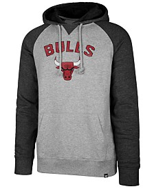 '47 Brand Men's Chicago Bulls Match Raglan Hoodie
