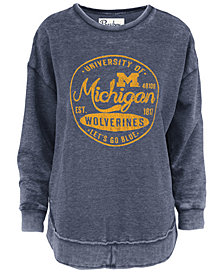 Pressbox Women's Michigan Wolverines Vintage Wash Sweatshirt