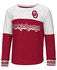 Oklahoma Sooners Colorblocked Long Sleeve T-Shirt, Toddler Girls (2T-4T)