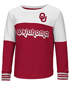 Colosseum Oklahoma Sooners Colorblocked Long Sleeve T-Shirt, Toddler Girls (2T-4T)