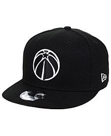 New Era Washington Wizards Black White 9FIFTY Snapback Cap