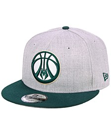 Milwaukee Bucks Heather Gray 9FIFTY Snapback Cap