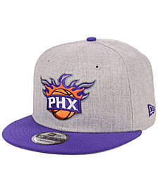 New Era Phoenix Suns Heather Gray 9FIFTY Snapback Cap