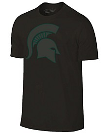 Men's Michigan State Spartans Black Out Dual Blend T-Shirt