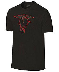 Champion Men's Texas Tech Red Raiders Black Out Dual Blend T-Shirt