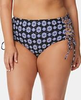 5e6209a405b1 Raisins Curve Trendy Plus Size Juniors  Lace-Up Bikini Bottoms
