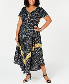 daccf514382 Style   Co Plus Size Floral-Print Maxi Dress