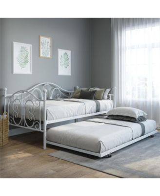 Bradford Full Full Metal Daybed and Twin Size Trundle