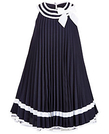Bonnie Jean Little Girls Striped Pleated Dress