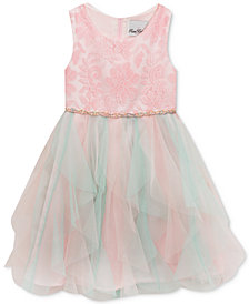 Rare Editions Little Girls Multicolor Cascade Dress
