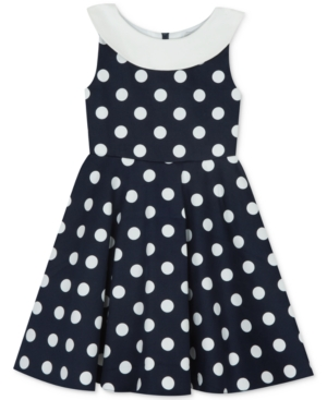 Vintage Style Children's Clothing: Girls, Boys, Baby, Toddler Rare Editions Little Girls Polka Dot Sailor Dress $28.99 AT vintagedancer.com