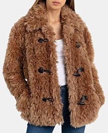 Avec Les Filles Faux-Fur Toggle Teddy Coat