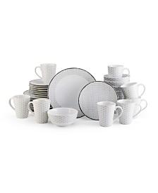 Mikasa Avery Medley Gray 32 Piece Dinnerware Set
