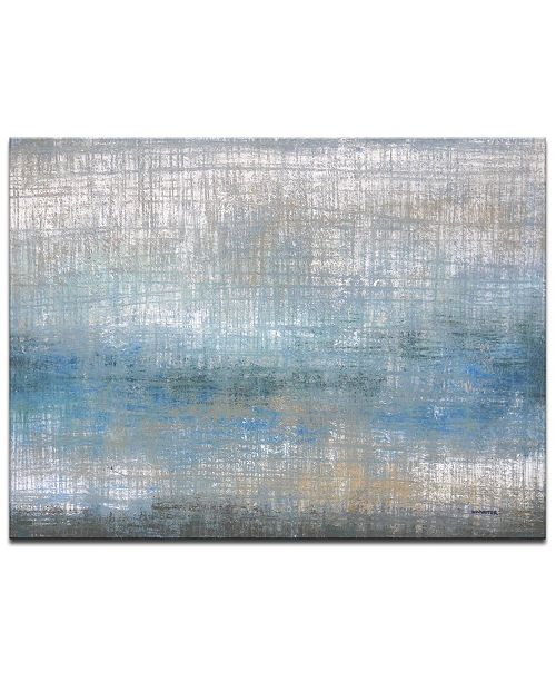 "Ready2HangArt 'Buck roe Shore' Abstract Canvas Wall Art, 20x30"""