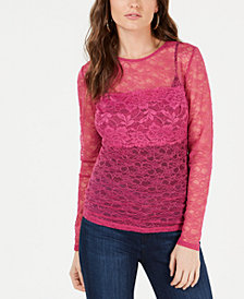 GUESS Soffie Long-Sleeve Lace Top