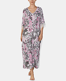 Ellen Tracy Printed Long Caftan