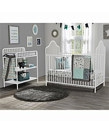 Rowan Valley Lanley Metal Crib and Changing Table Set