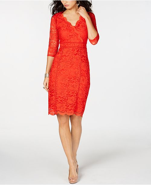 d221a3e05a69 Thalia Sodi Lace Sheath Dress, Created for Macy's & Reviews ...