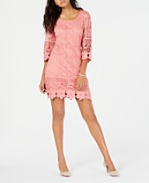 becba14ae008 Pink Lace Dresses For Women: Shop Lace Dresses For Women - Macy's