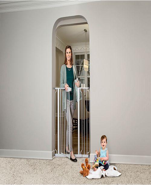 Regalo Easy Step Extra Tall White Metal Walk-Through Gate
