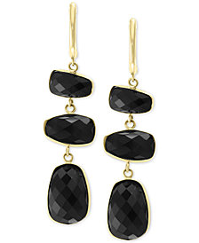 EFFY® Onyx Triple Drop Earrings in 14k Gold